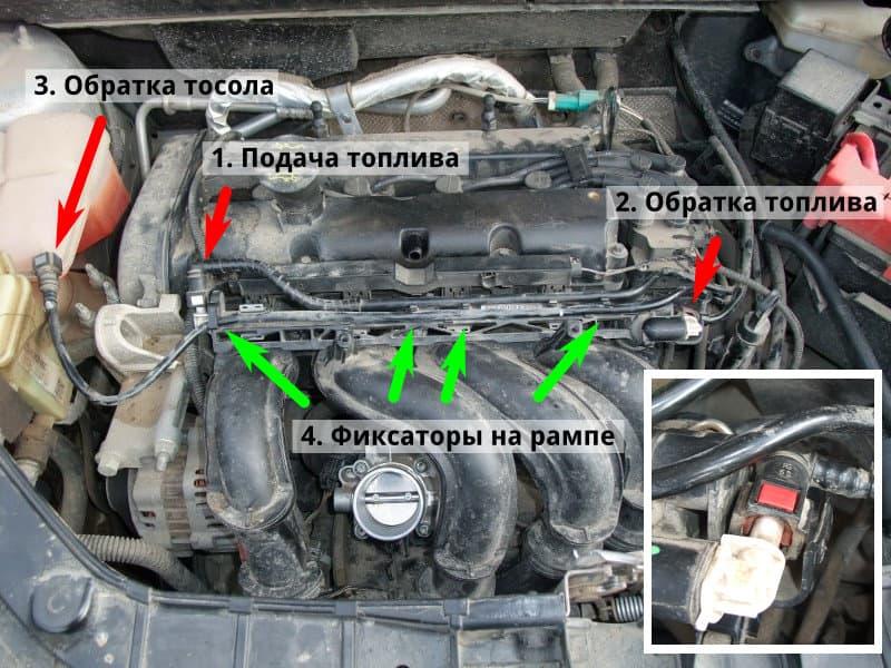 Чистка форсунок форд фьюжн 1.4 своими руками